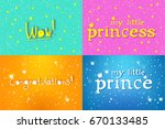 a set of children's backgrounds ... | Shutterstock .eps vector #670133485