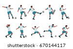 soccer player colored set | Shutterstock .eps vector #670144117