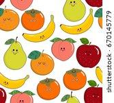 fruit character pattern | Shutterstock .eps vector #670145779