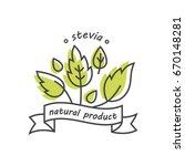 vector linear stevia labels ... | Shutterstock .eps vector #670148281