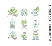 vector set of stevia labels ... | Shutterstock .eps vector #670148341