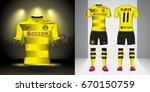set of soccer kit or football... | Shutterstock .eps vector #670150759