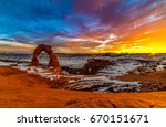 Sunset Over The Delicate Arch...
