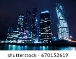 business center moscow city at... | Shutterstock . vector #670152619