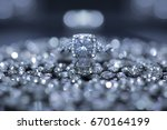 wedding ring on surrounded with ... | Shutterstock . vector #670164199