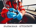 alarm for helicopter emergency... | Shutterstock . vector #670165699