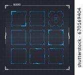 sci fi modern futuristic user... | Shutterstock .eps vector #670169404