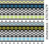 geometric ethnic pattern... | Shutterstock .eps vector #670178179