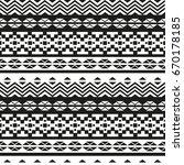 geometric ethnic pattern... | Shutterstock .eps vector #670178185