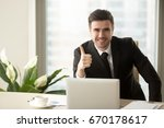 successful confident... | Shutterstock . vector #670178617