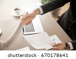 close up top view of business... | Shutterstock . vector #670178641