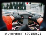 karting driver  view through... | Shutterstock . vector #670180621