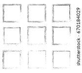 grunge square frames bundle | Shutterstock .eps vector #670184029
