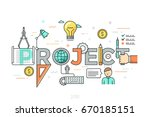 thin line design concept for... | Shutterstock .eps vector #670185151