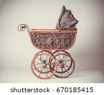 Old Victorian Pram With Vintag...