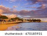 Lahaina Old Town at Sunset, Maui, Hawaii.