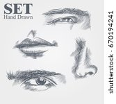 Set Of Hand Drawn Sketches Of...
