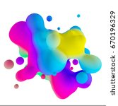 3d rendering moving colorful... | Shutterstock . vector #670196329