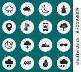 set of 16 editable air icons....