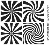 psychedelic spiral with radial... | Shutterstock .eps vector #670199794