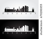 bordeaux skyline and landmarks... | Shutterstock .eps vector #670200355