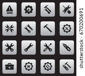 set of 16 editable toolkit... | Shutterstock .eps vector #670200691
