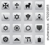 set of 16 editable religion... | Shutterstock .eps vector #670201855