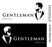 gentleman logotype  beard club. ...   Shutterstock .eps vector #670202341