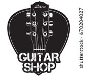 guitar neck icon with guitar...   Shutterstock .eps vector #670204027