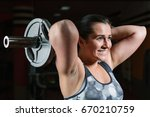 beautiful muscular bodybuilder... | Shutterstock . vector #670210759