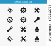 set of 12 editable toolkit...