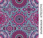 patchwork pattern. vintage... | Shutterstock .eps vector #670213741