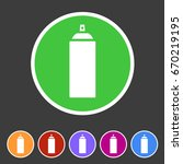 spray can color icon icon flat...   Shutterstock .eps vector #670219195