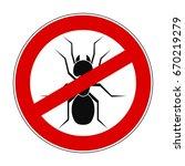 sign ban anti ant   stock vector
