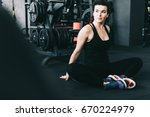 fitness sports woman in fashion ... | Shutterstock . vector #670224979