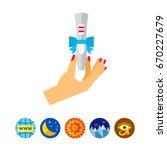 positive test present icon | Shutterstock .eps vector #670227679