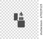 Lighter With Fire Vector Icon