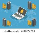 bitcoin mining farm isometric... | Shutterstock .eps vector #670229731