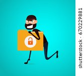 thief. hacker stealing... | Shutterstock .eps vector #670229881