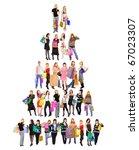 group crowd diversity | Shutterstock . vector #67023307