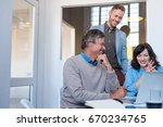 smiling group of young...   Shutterstock . vector #670234765