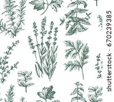 graphic vintage pattern with... | Shutterstock .eps vector #670239385