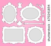 vector baroque frame and... | Shutterstock .eps vector #670241854