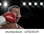 low key portrait of boxer... | Shutterstock . vector #67024219