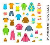 baby clothes vector... | Shutterstock .eps vector #670242271
