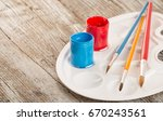 special painting tools on... | Shutterstock . vector #670243561