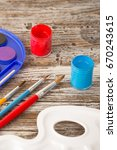special painting tools on... | Shutterstock . vector #670243615