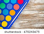 special watercolor on wooden... | Shutterstock . vector #670243675