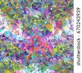 geometric low polygonal... | Shutterstock .eps vector #670243939