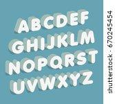 3d font. alphabet letters.... | Shutterstock .eps vector #670245454